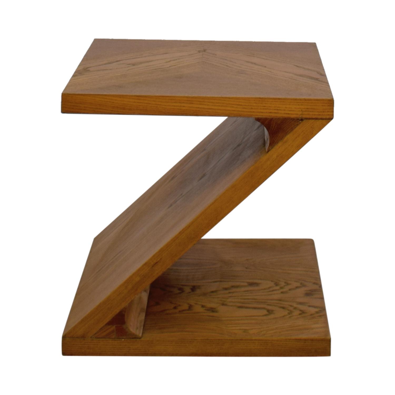 buy Lane Furniture Solid Oak Z-Shaped End Table Lane Furniture End Tables