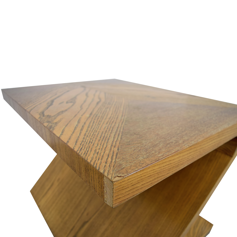 Lane Furniture Lane Furniture Solid Oak Z-Shaped End Table coupon
