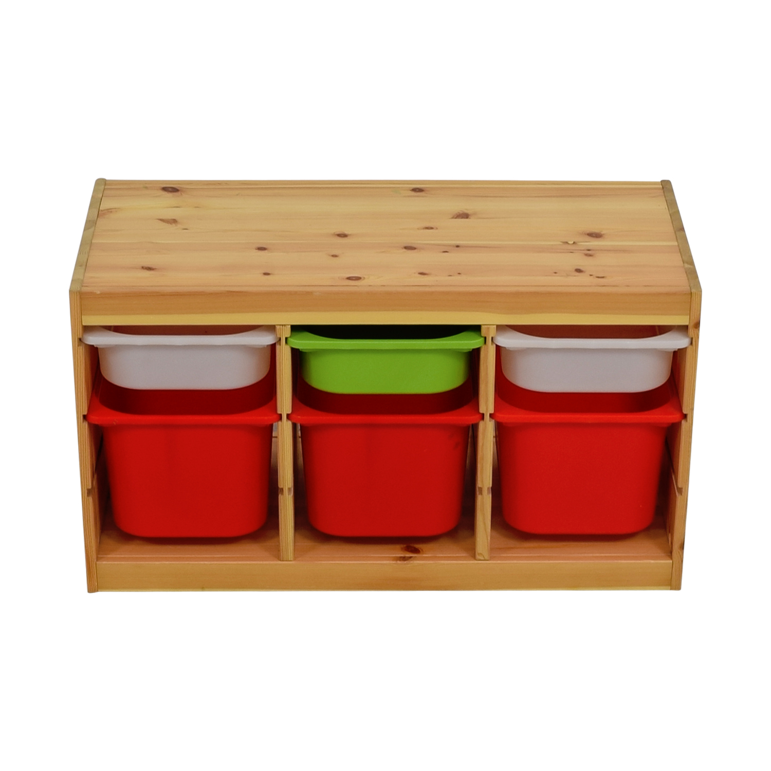 IKEA IKEA Child Wooden Storage with Bins dimensions