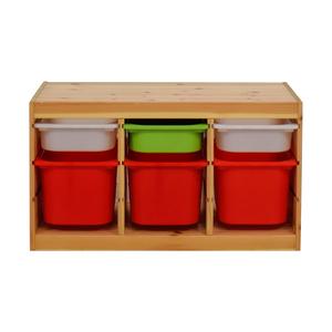 IKEA Child Wooden Storage with Bins sale