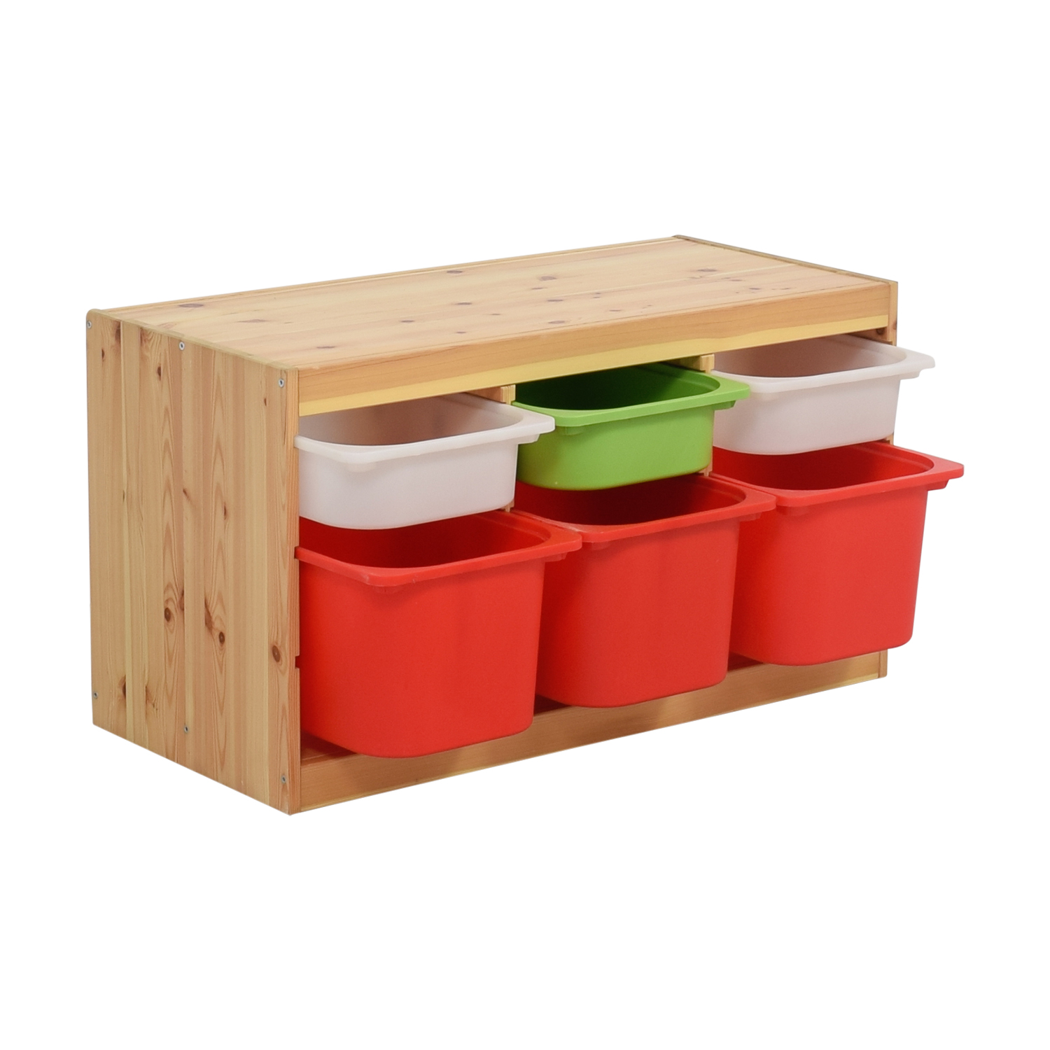 IKEA Child Wooden Storage with Bins / Bookcases & Shelving