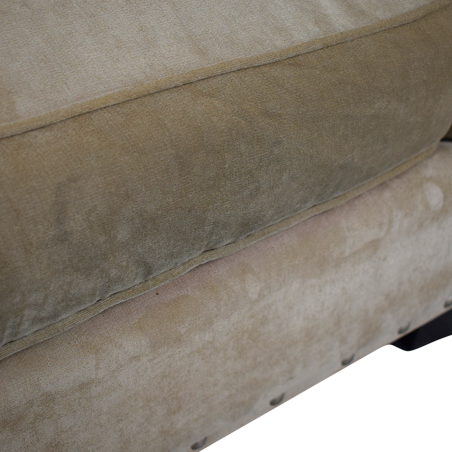 Raymour & Flanigan Raymour & Flanigan Cindy Crawford Beige Suede Loveseat SUEDE PAIGE