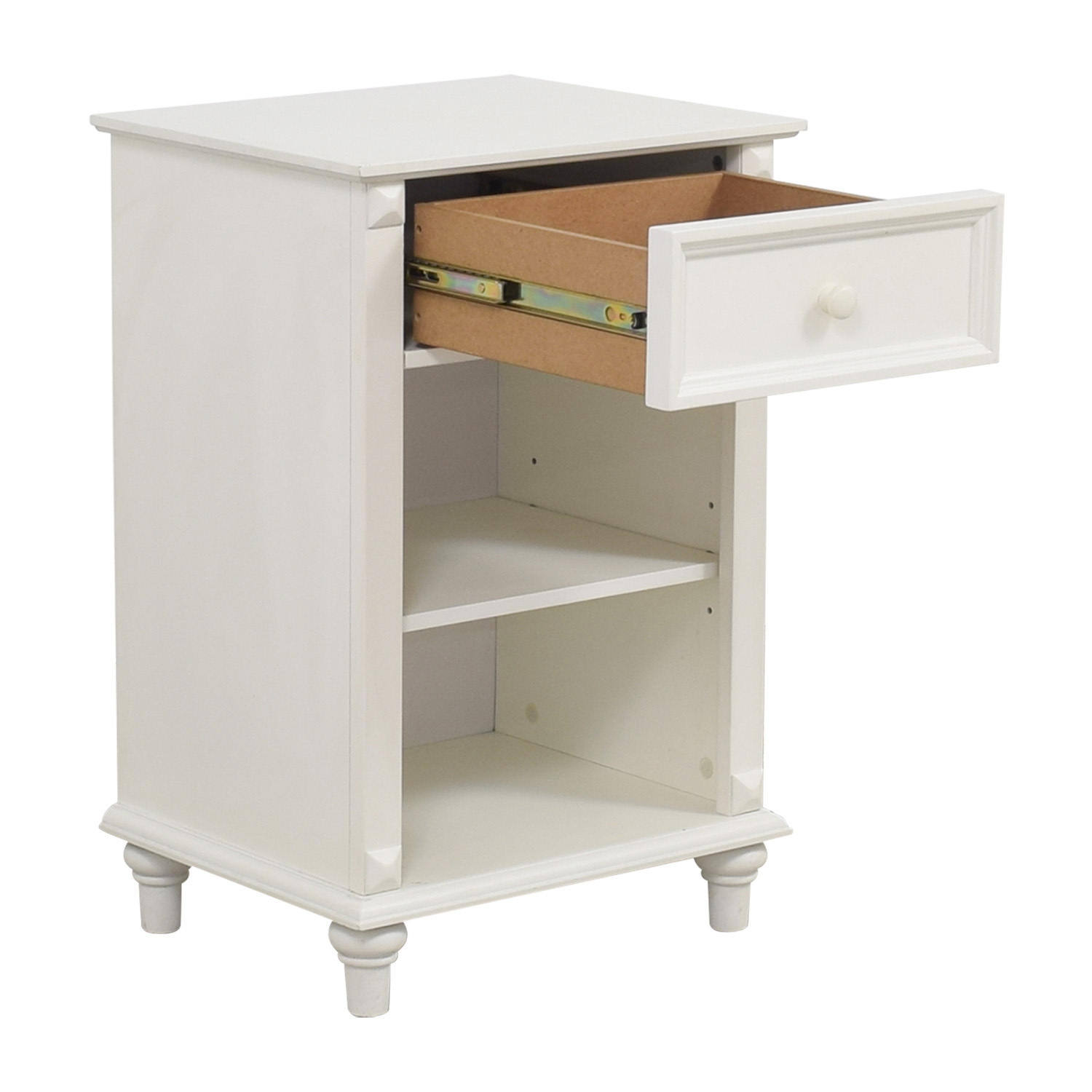 ... Shop West Elm White Single Drawer Nightstand West Elm End Tables ...