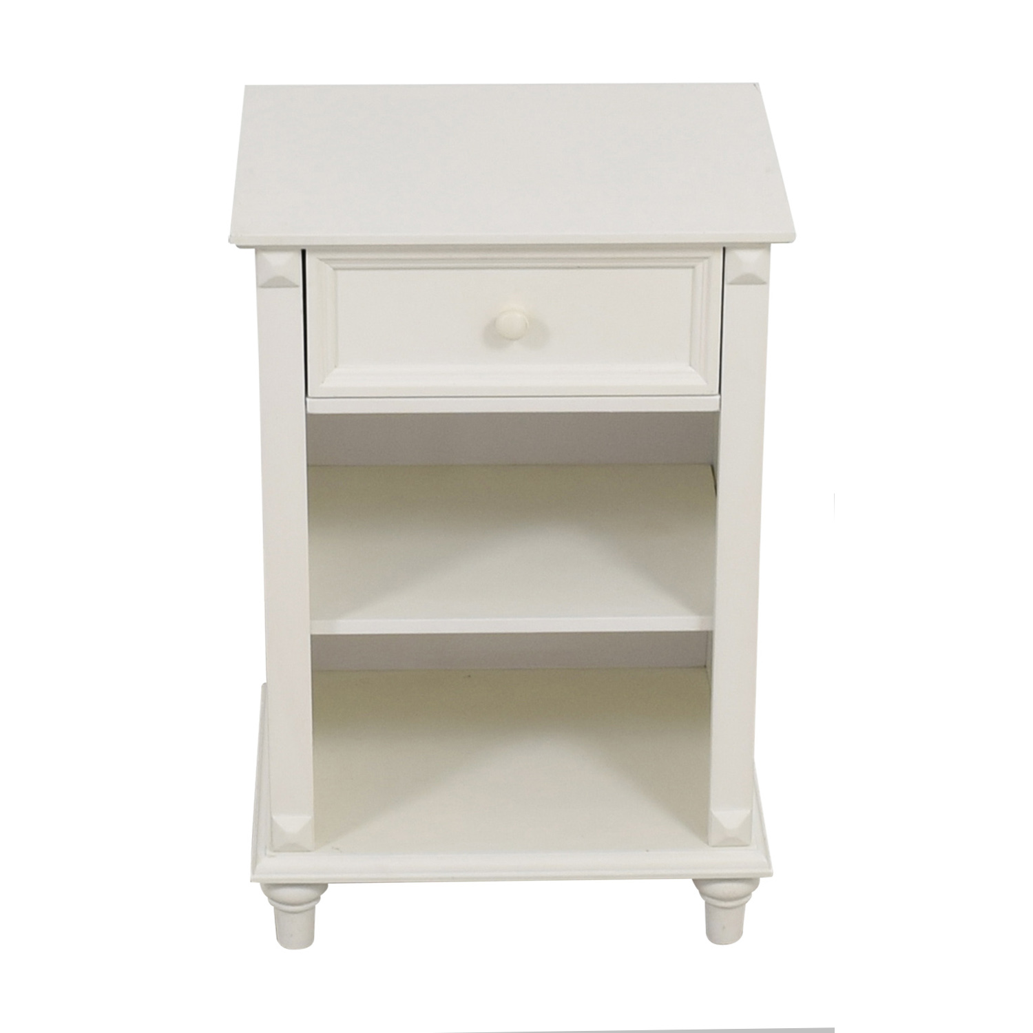 West Elm West Elm White Single Drawer Nightstand for sale