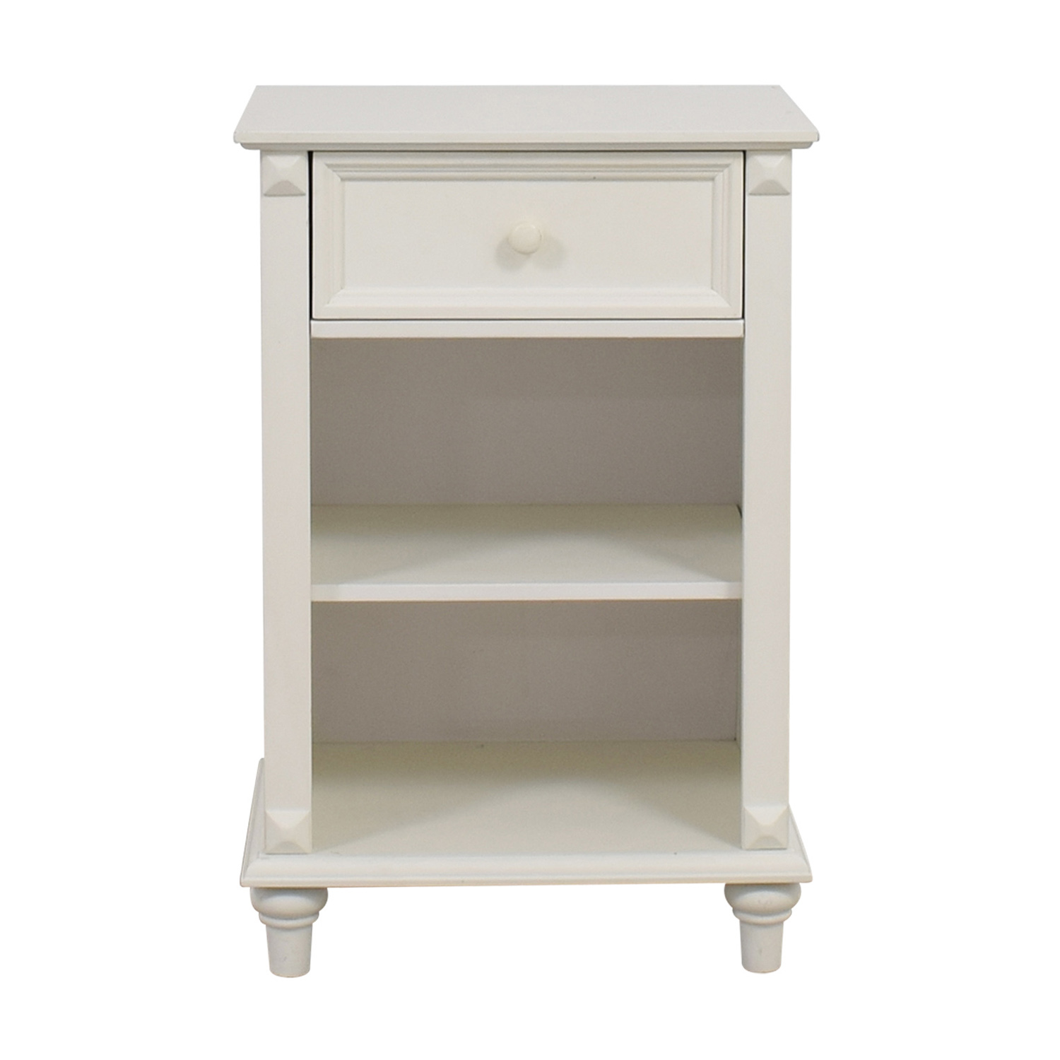 buy West Elm White Single Drawer Nightstand West Elm Tables