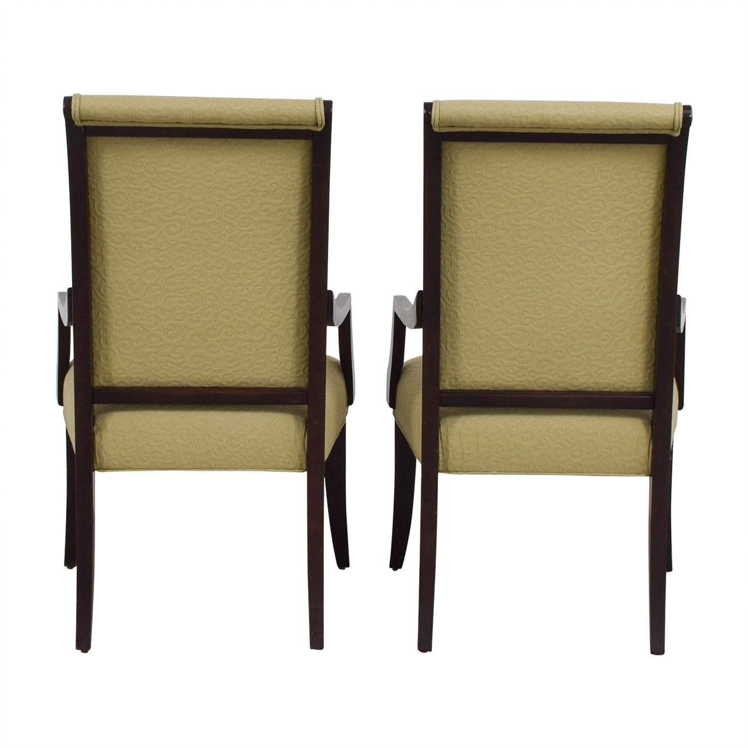 Ethan Allen Ethan Allen Beige Jacquard Upholstered Accent Chairs nyc