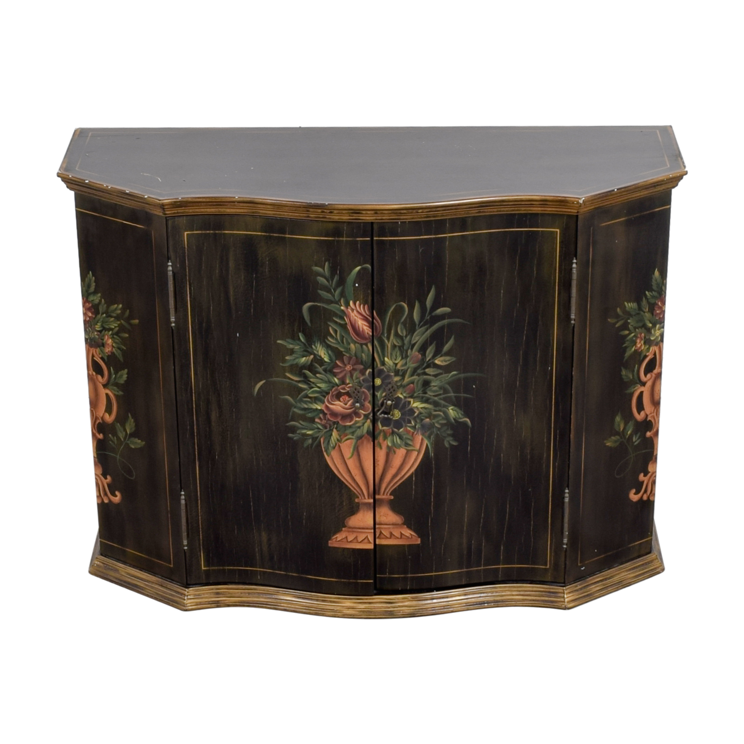 Ethan Allen Ethan Allen Floral Hand Painted Cabinet second hand