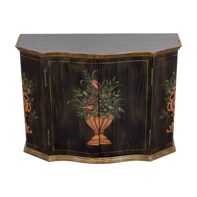 Ethan Allen Ethan Allen Floral Hand Painted Cabinet Storage