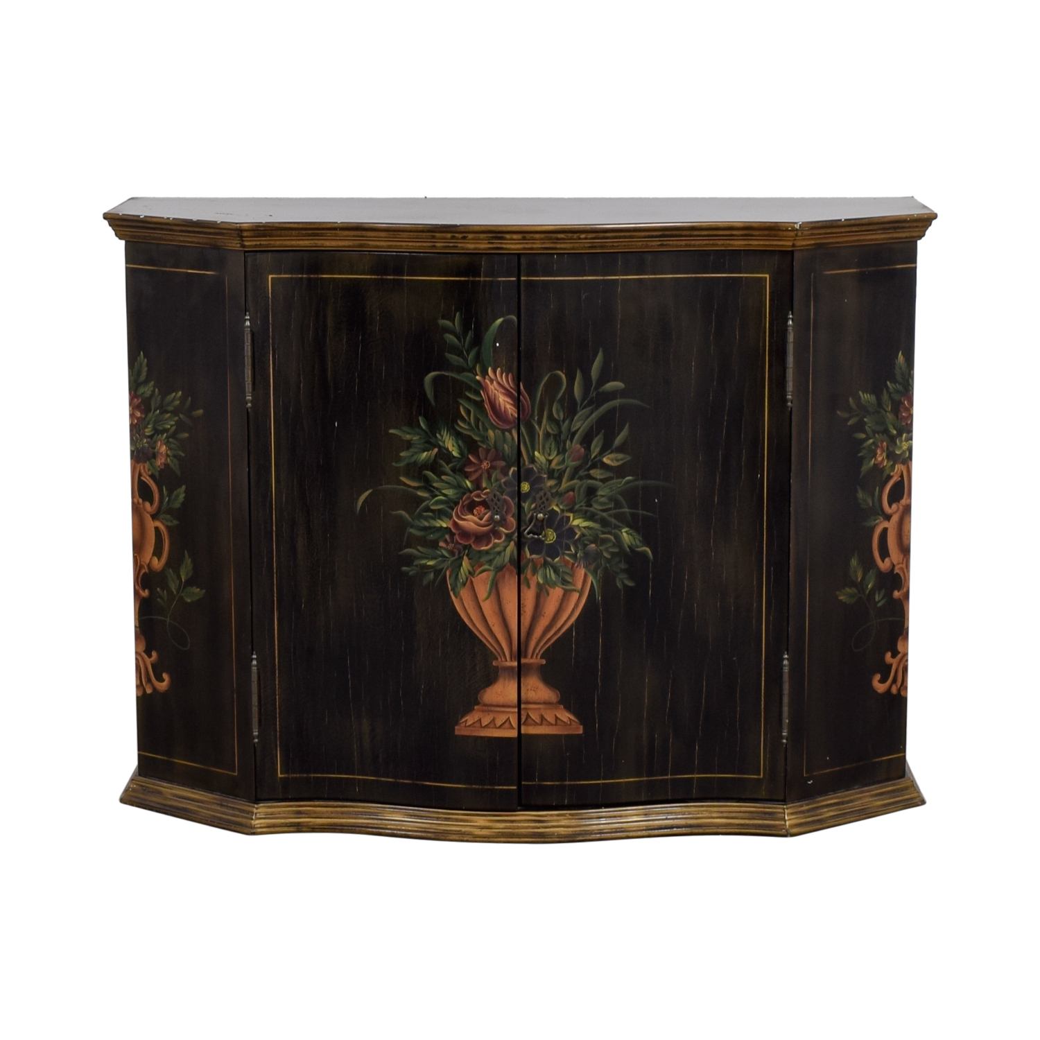 Ethan Allen Ethan Allen Floral Hand Painted Cabinet used