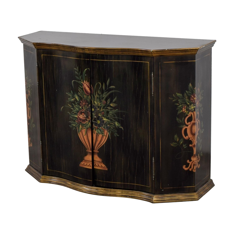 Ethan Allen Ethan Allen Floral Hand Painted Cabinet nj
