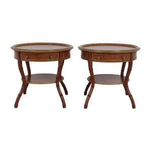 shop John Widdicomb Mario Buatta Round Single Drawer Wood End Tables John Widdicomb Co.