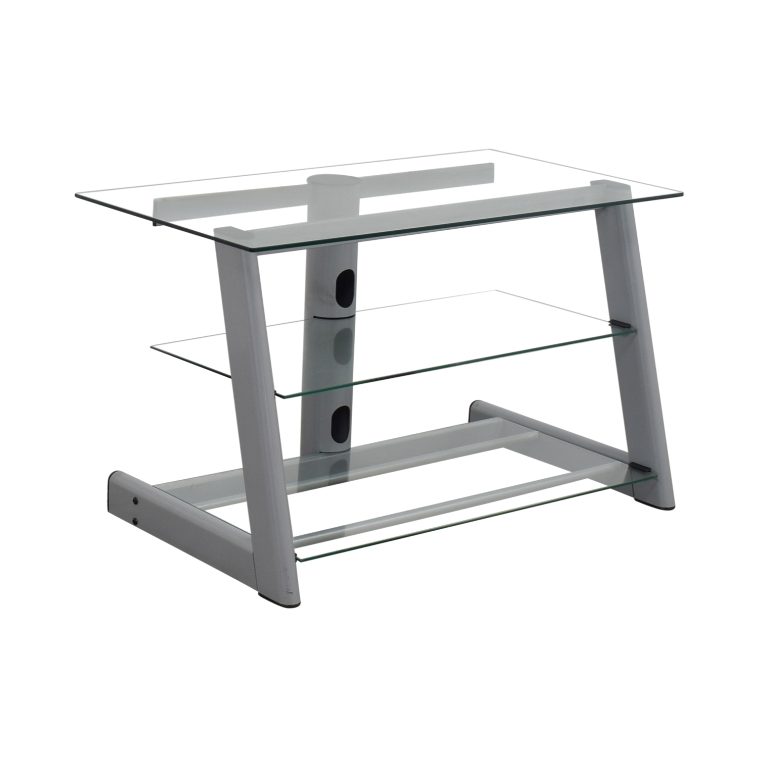 Three Tier Glass & Metal TV Stand second hand