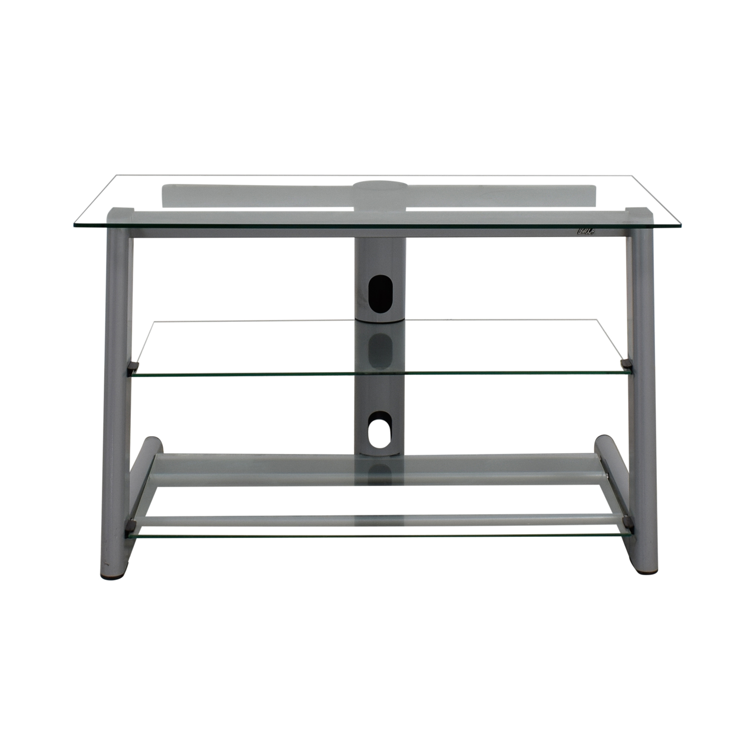 shop Three Tier Glass & Metal TV Stand