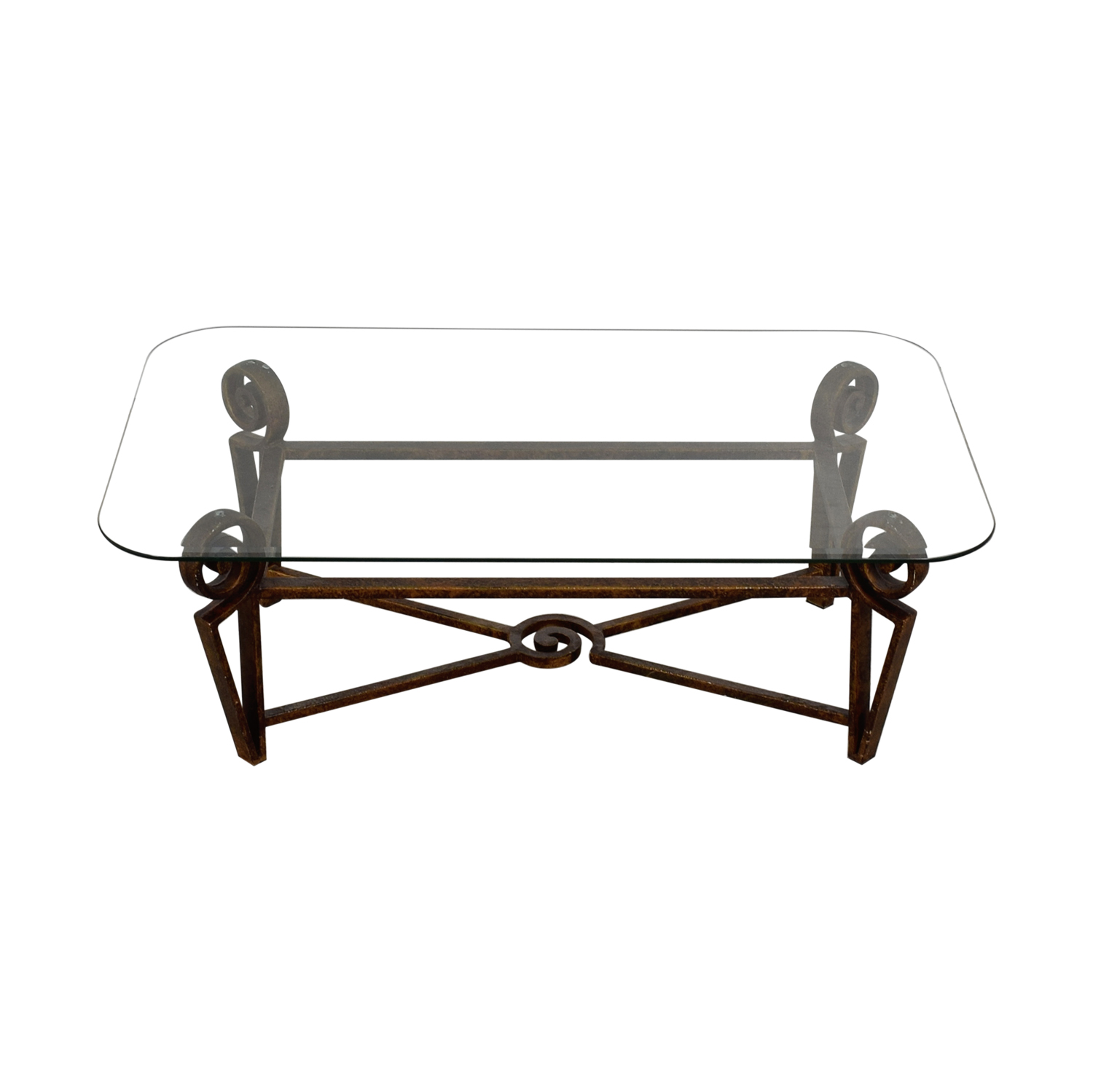 Glass Top and Metal Base Coffee Table dimensions