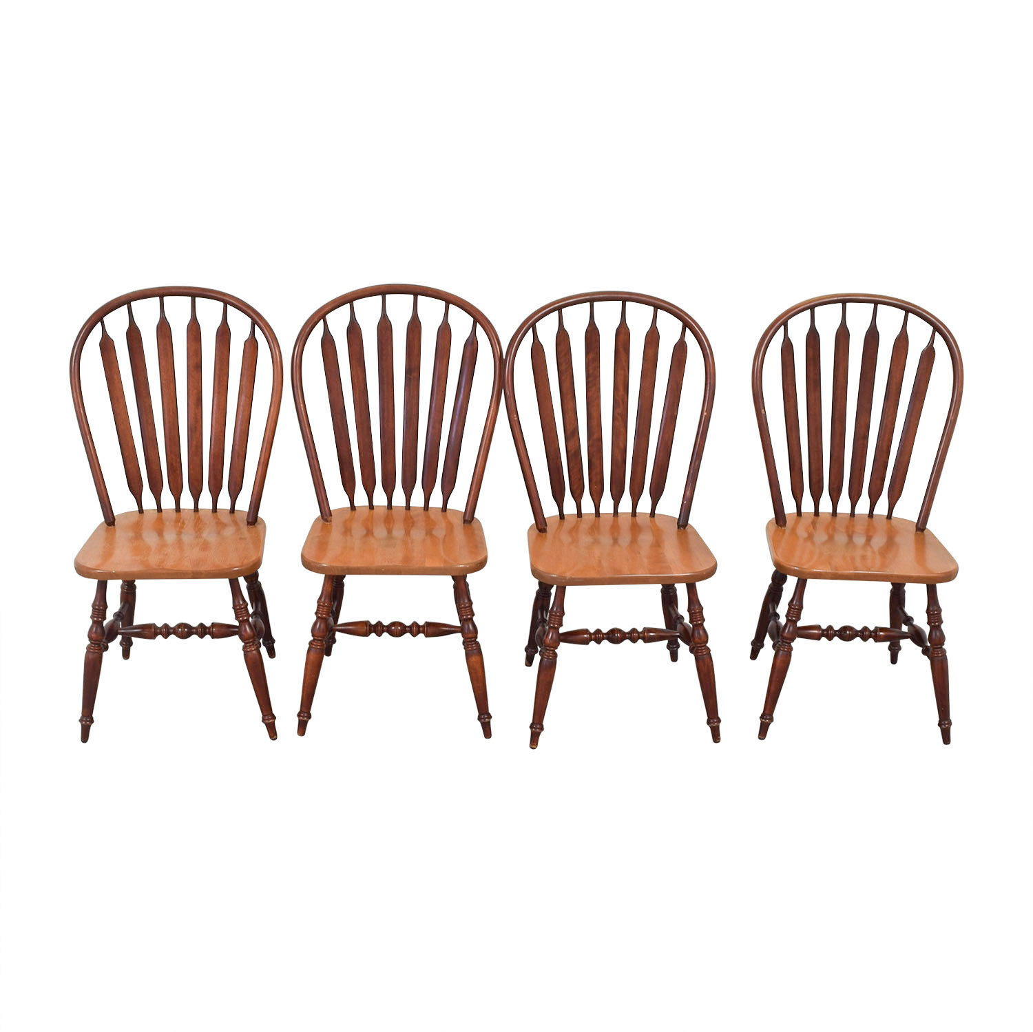 Canadel Canadel Windsor Wood Dining Chairs Light Brown