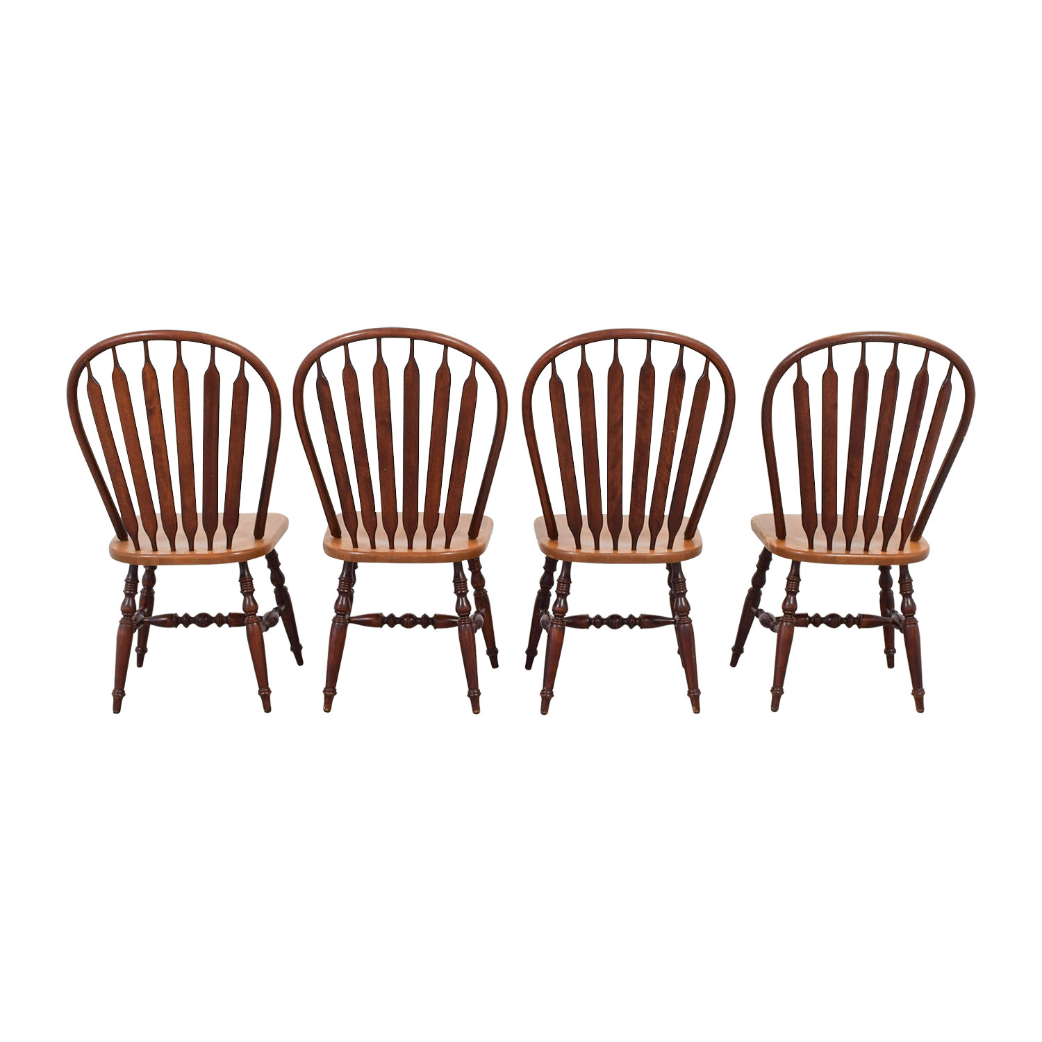 Canadel Canadel Windsor Wood Dining Chairs for sale