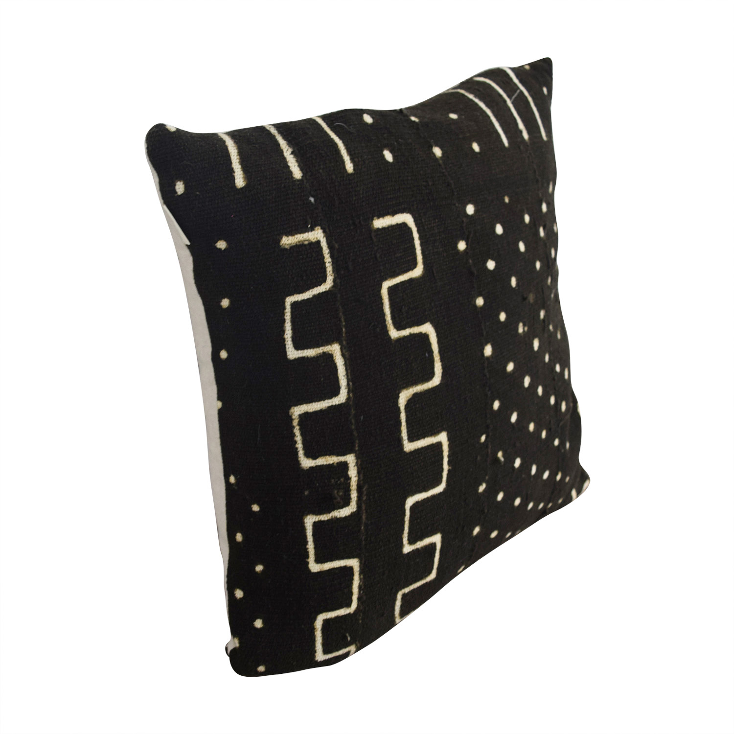 Etsy Etsy African Black and Beige Mudcloth Toss Pillow second hand