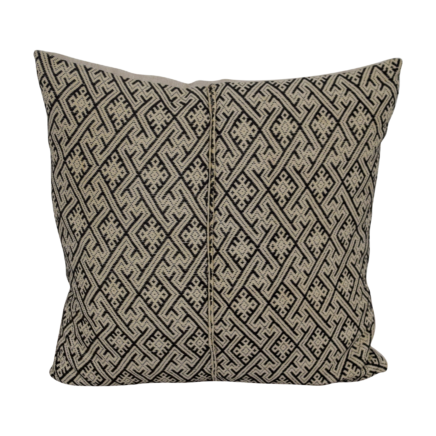 Etsy Vintage Beige and Black Toss Pillow sale