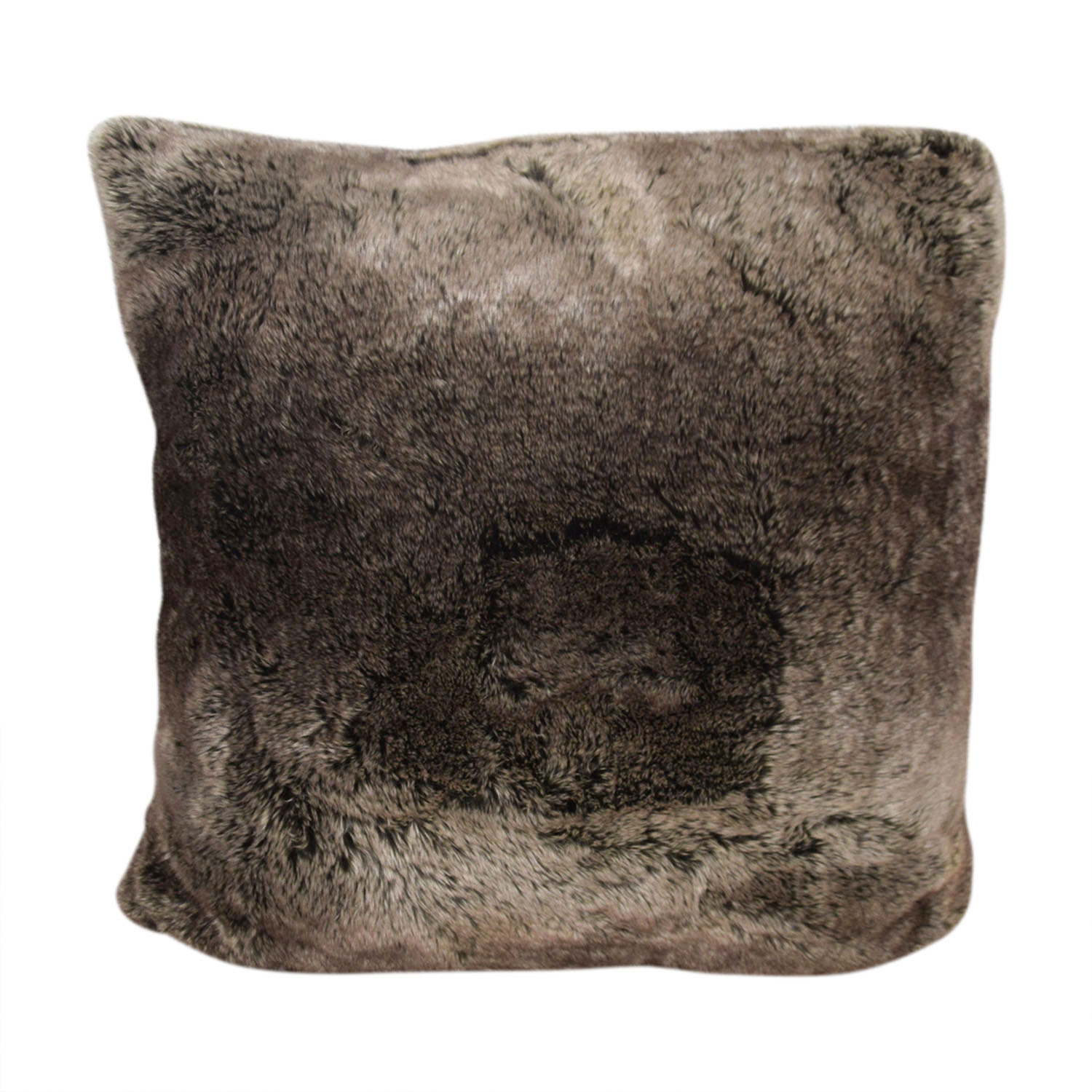 Throw Pillows Rust : 32% OFF - Restoration Hardware Restoration Hardware Faux Fur Decorative Pillow / Decor