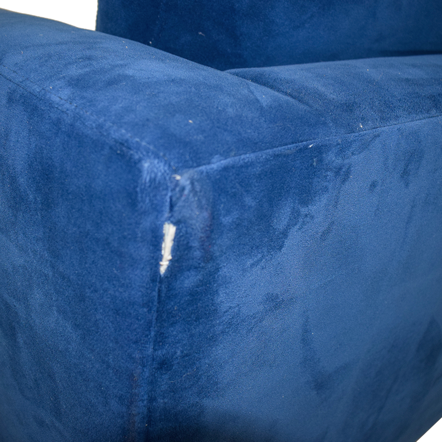 buy Blue Arm Chair with Toss Pillow  Chairs