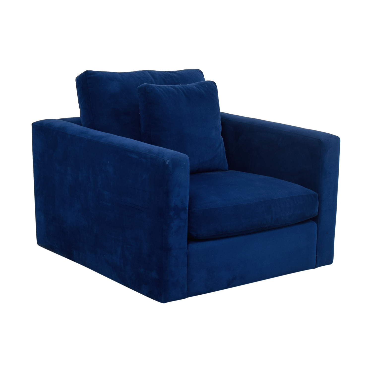 Blue Arm Chair with Toss Pillow Accent Chairs