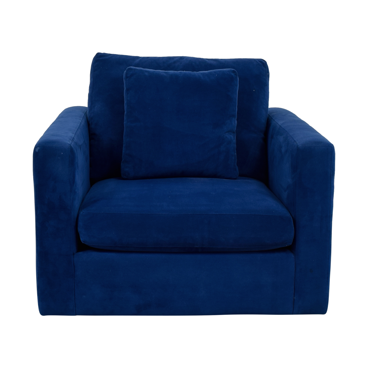 Blue Arm Chair with Toss Pillow Chairs
