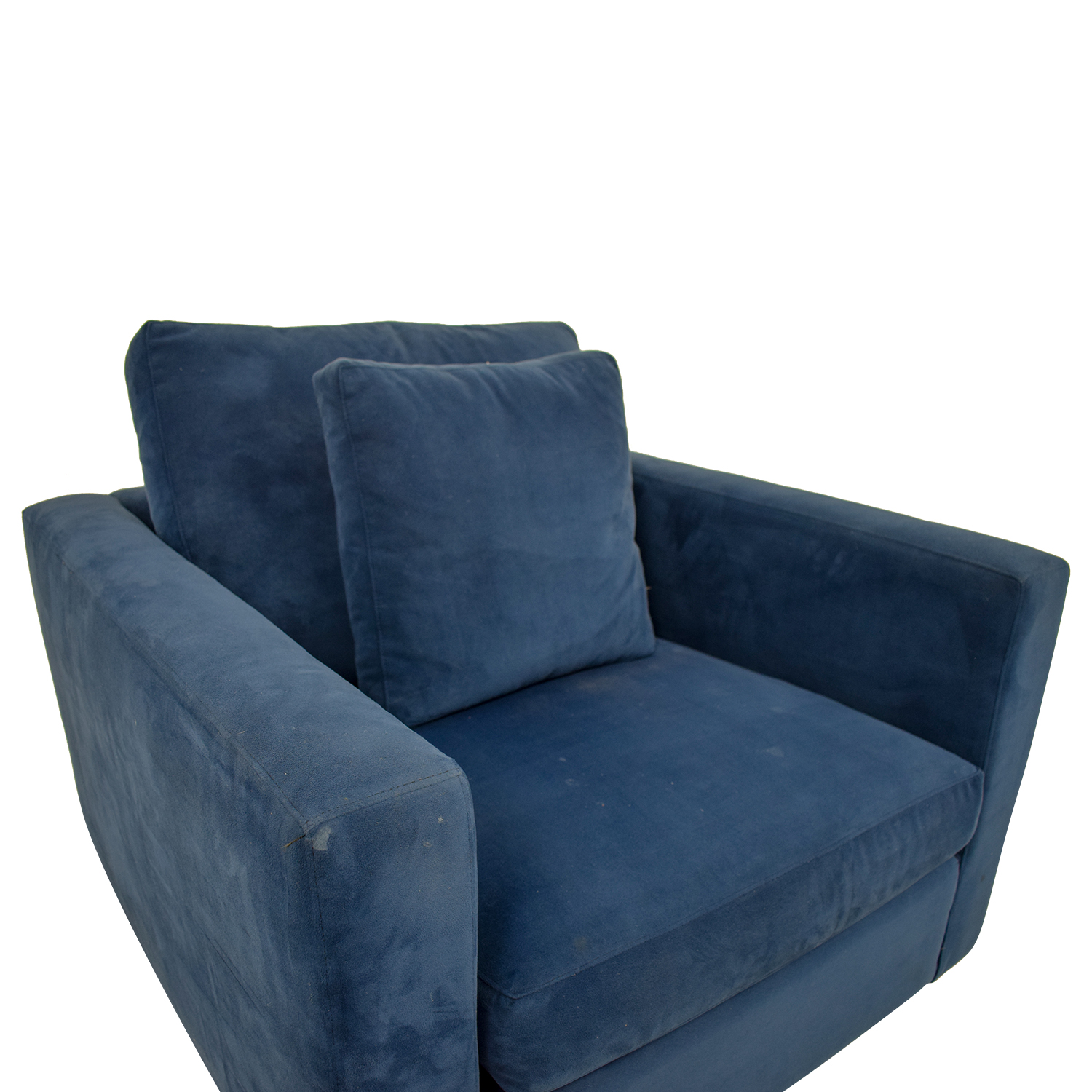 Blue Arm Chair with Toss Pillow / Chairs