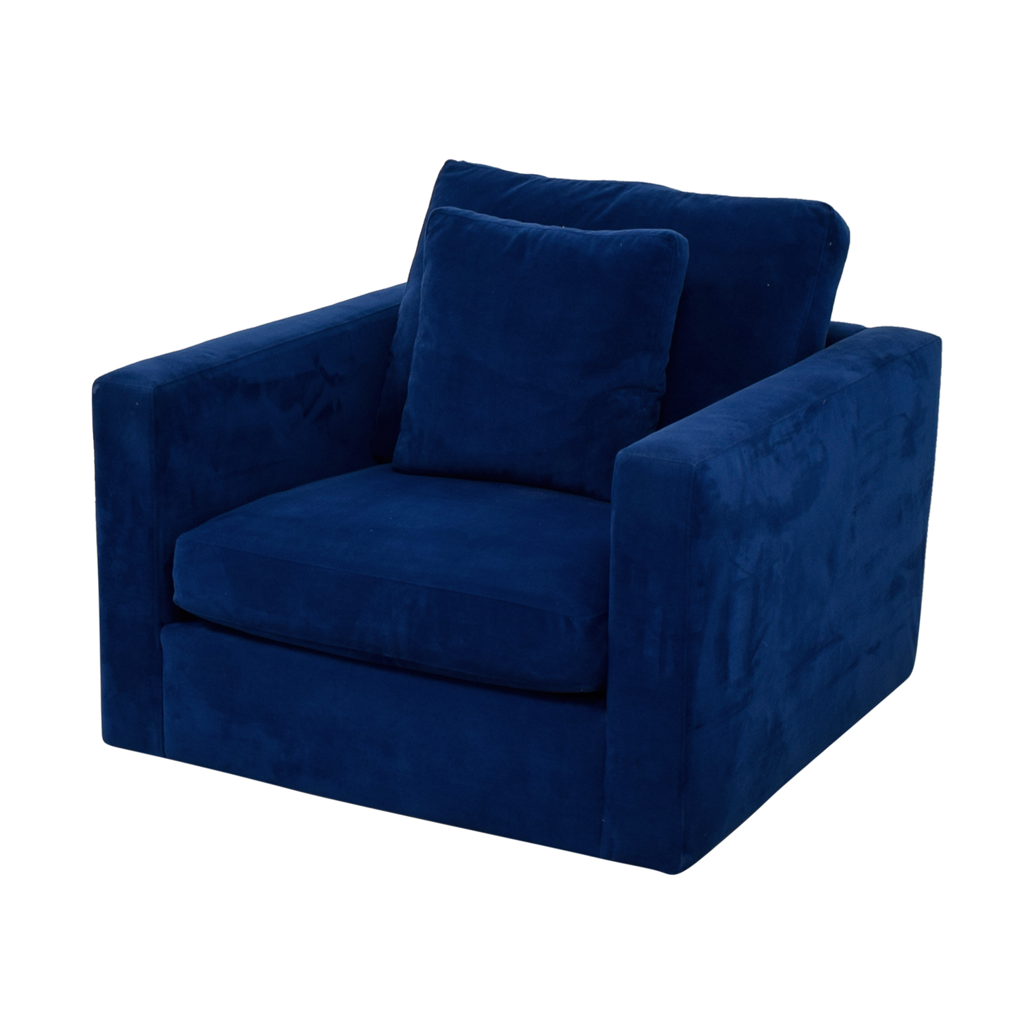 Blue Arm Chair with Toss Pillow second hand