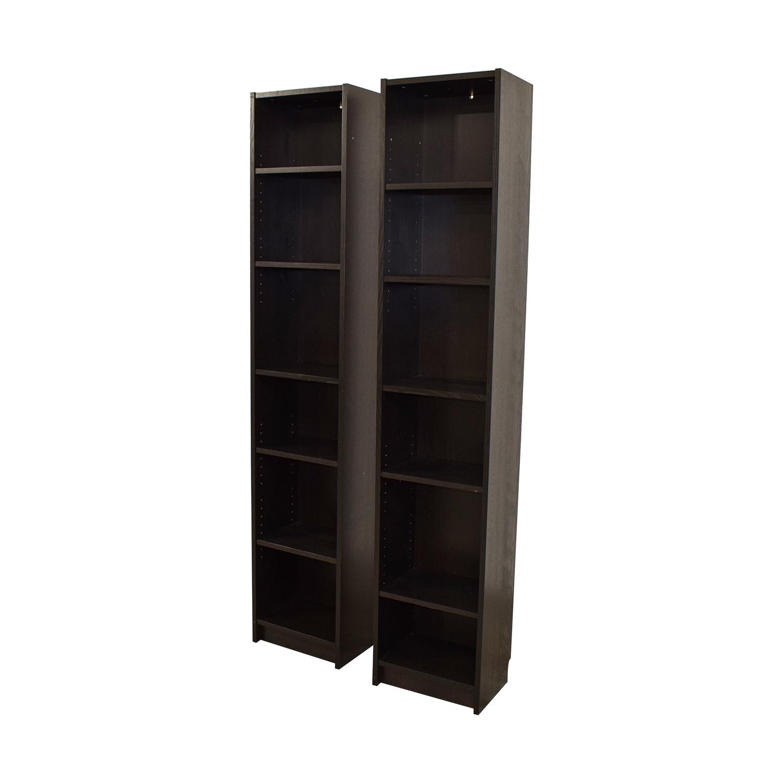 50 Off Ikea Ikea Billy Tall Narrow Bookcase Storage