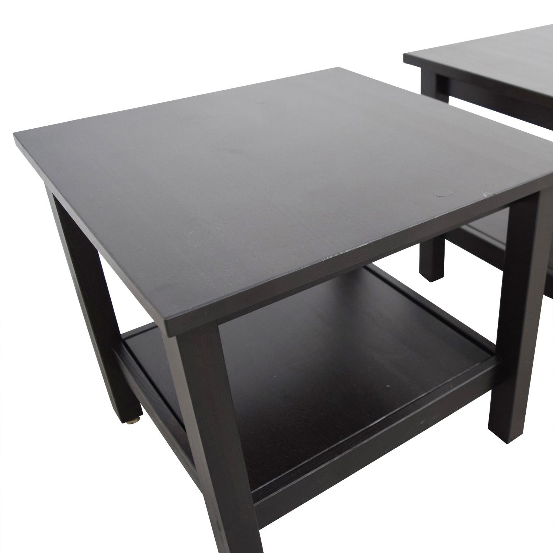 Hemnes Coffee Table Black Brown 90 X 90 Cm: IKEA IKEA Hemnes Side Table / Tables