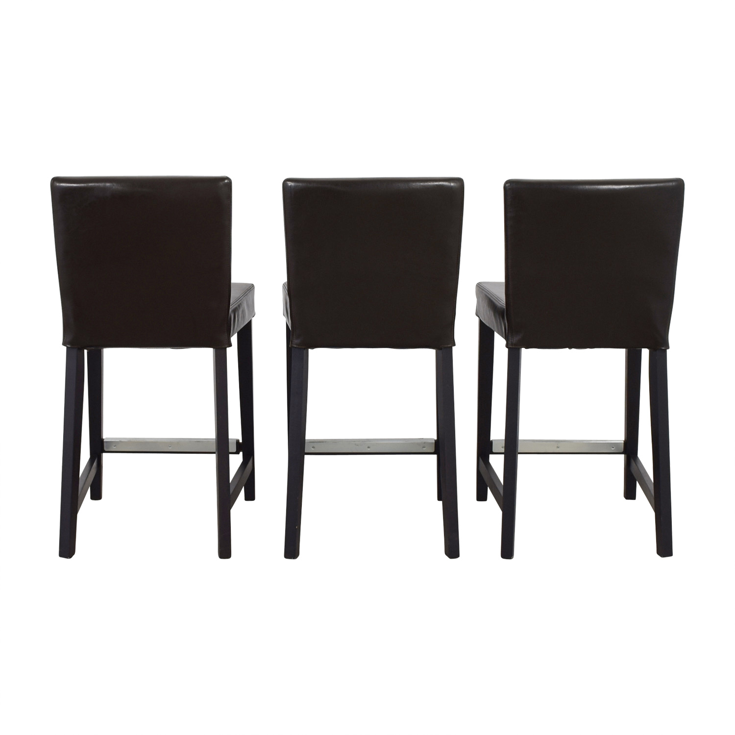buy IKEA Henriksdal Brown Leather Bar Stools IKEA