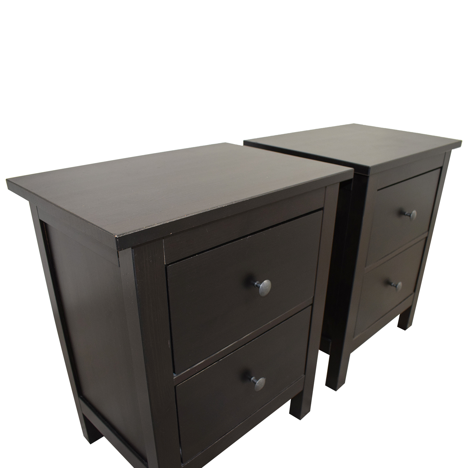 Ikea Ikea Hemnes Side Table Tables: IKEA IKEA Hemnes Two-Drawer Nightstands / Tables
