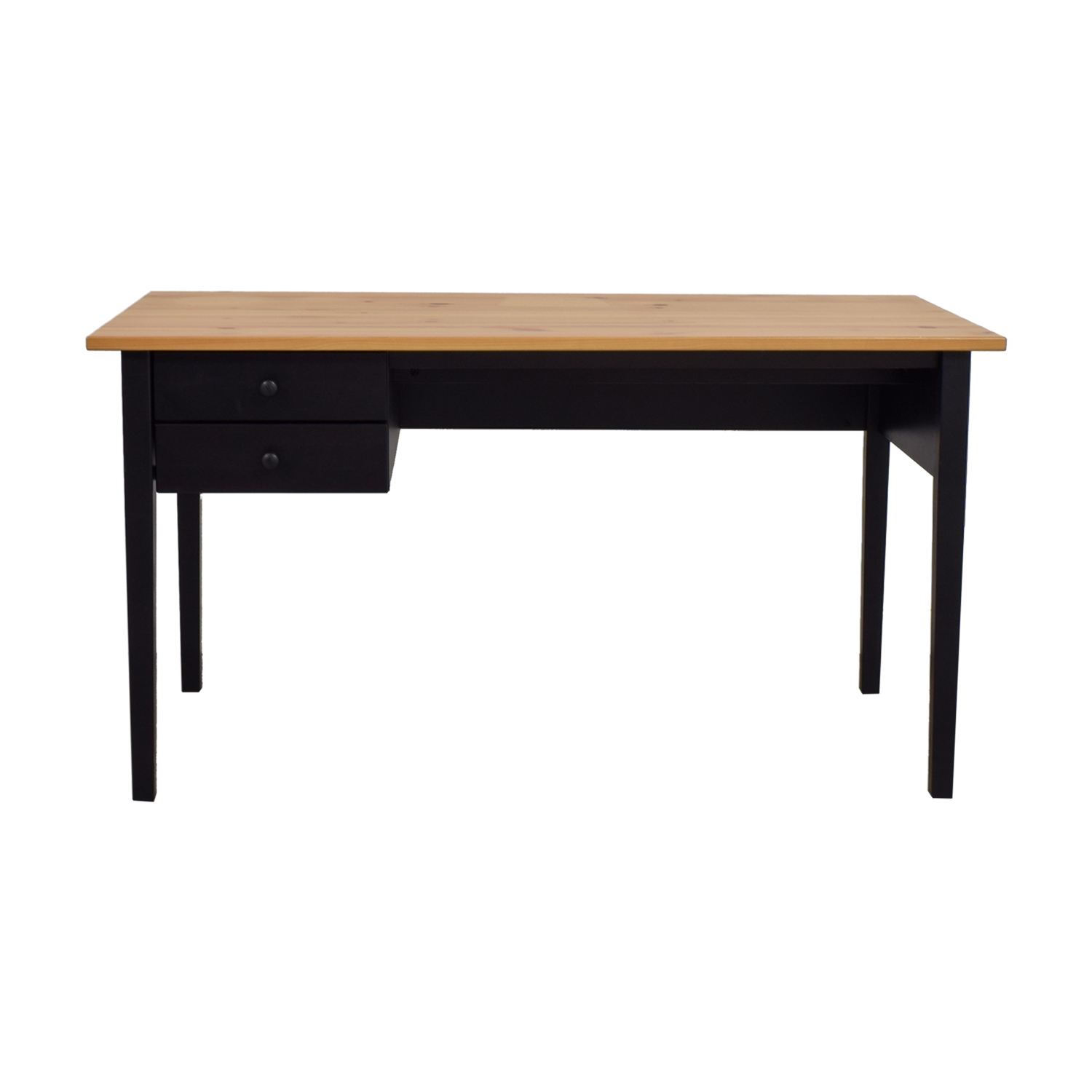 Ikea Arkelstorp Two Drawer Black Desk Second Hand
