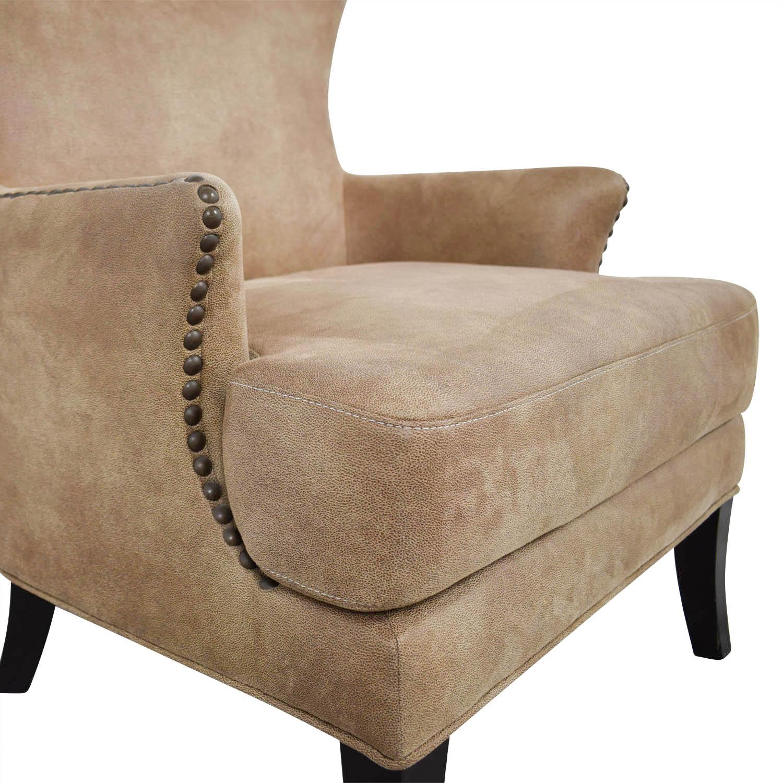 Joss & Main Joss & Main Nola Brown Nailhead Arm Chair dimensions