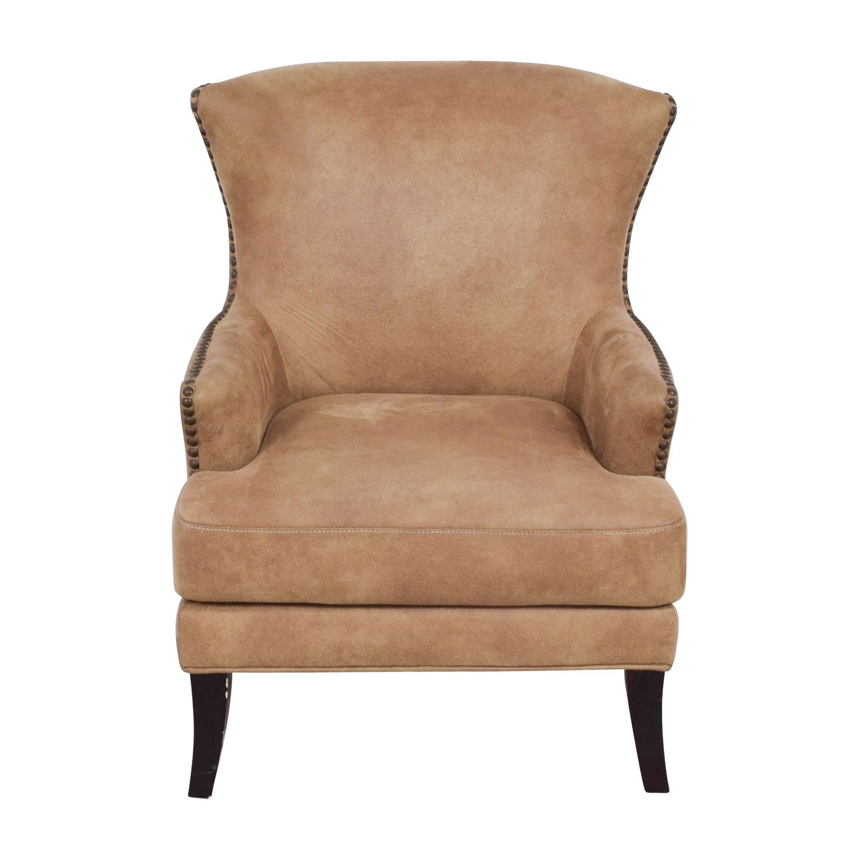 shop Joss & Main Joss & Main Nola Brown Nailhead Arm Chair online