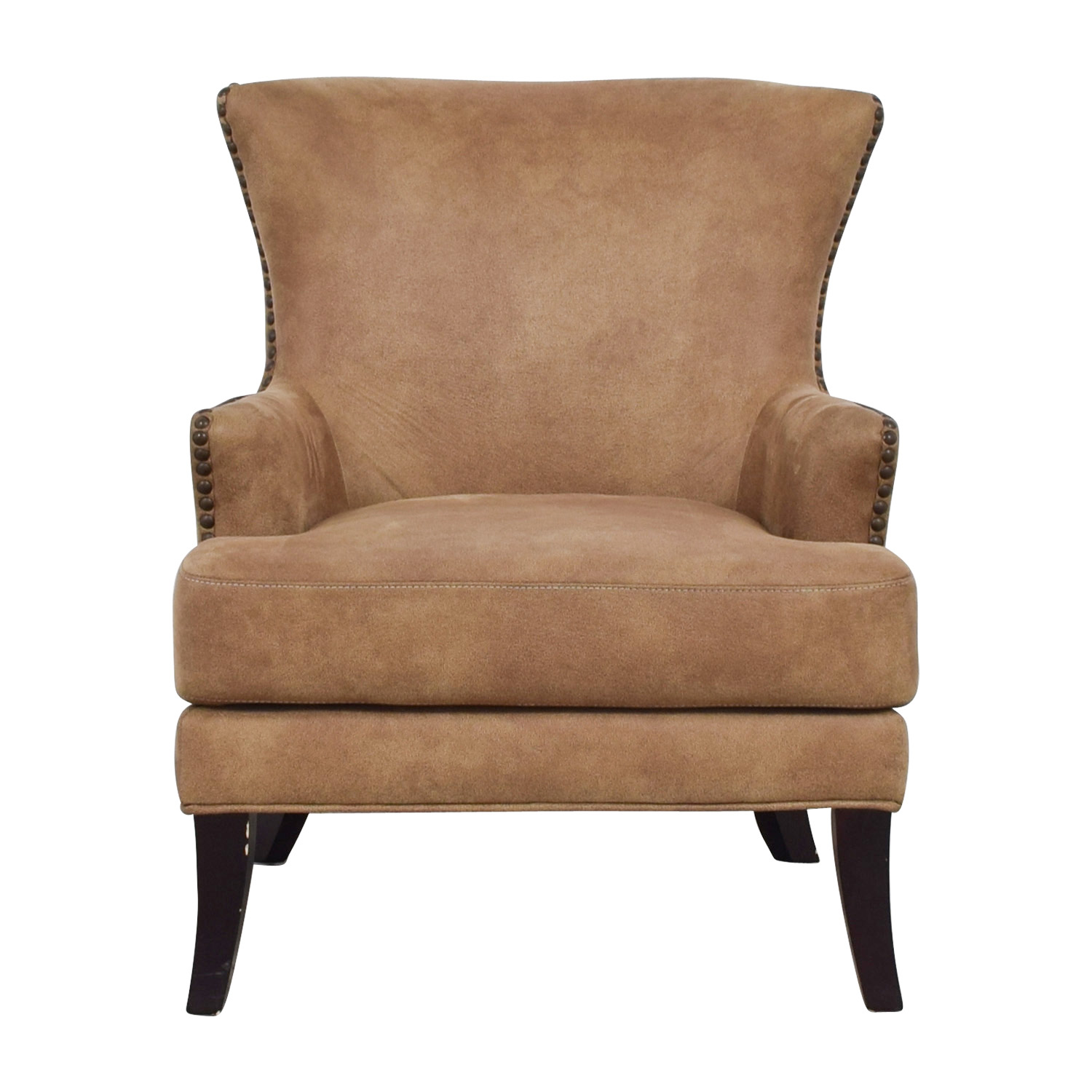Joss & Main Nola Brown Nailhead Arm Chair Joss & Main