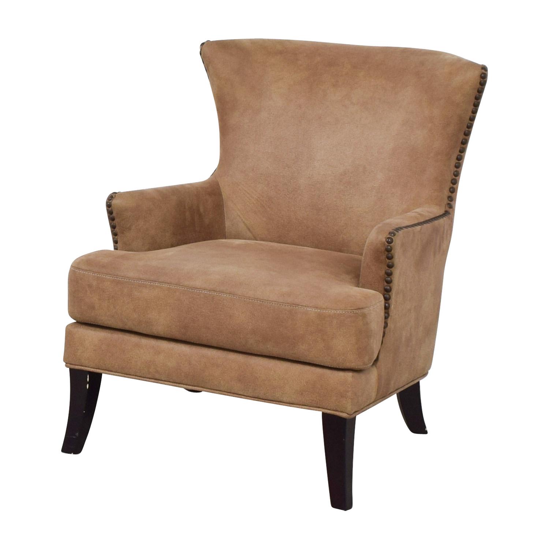 Joss & Main Joss & Main Nola Brown Nailhead Arm Chair Chairs