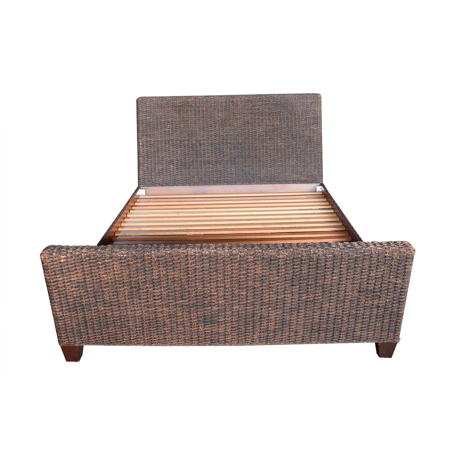 Crate & Barrel Crate & Barrel Woven Queen Bed Frame second hand
