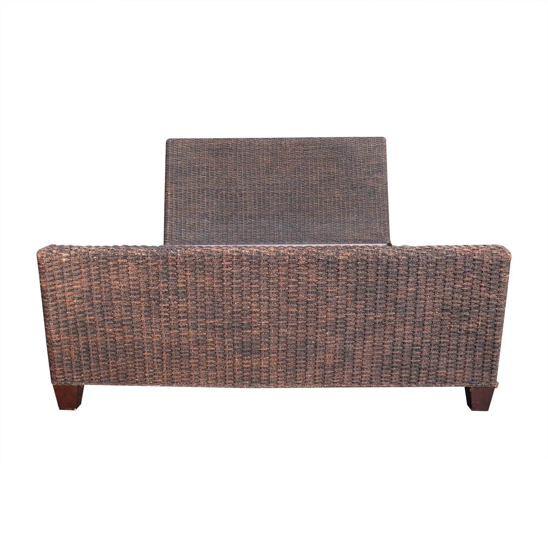 Crate & Barrel Crate & Barrel Woven Queen Bed Frame nj