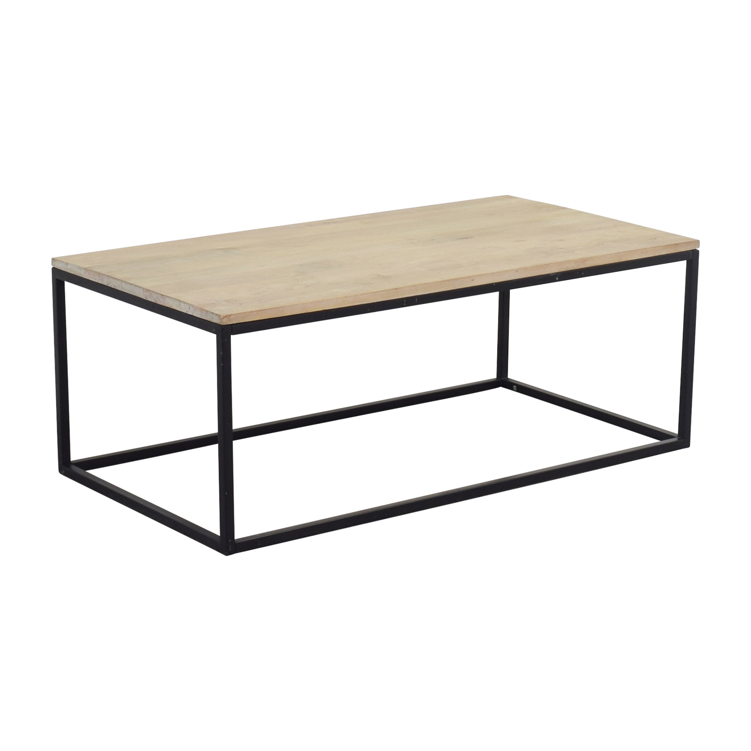 Crate & Barrel Crate & Barrel Natural Wood Coffee Table price