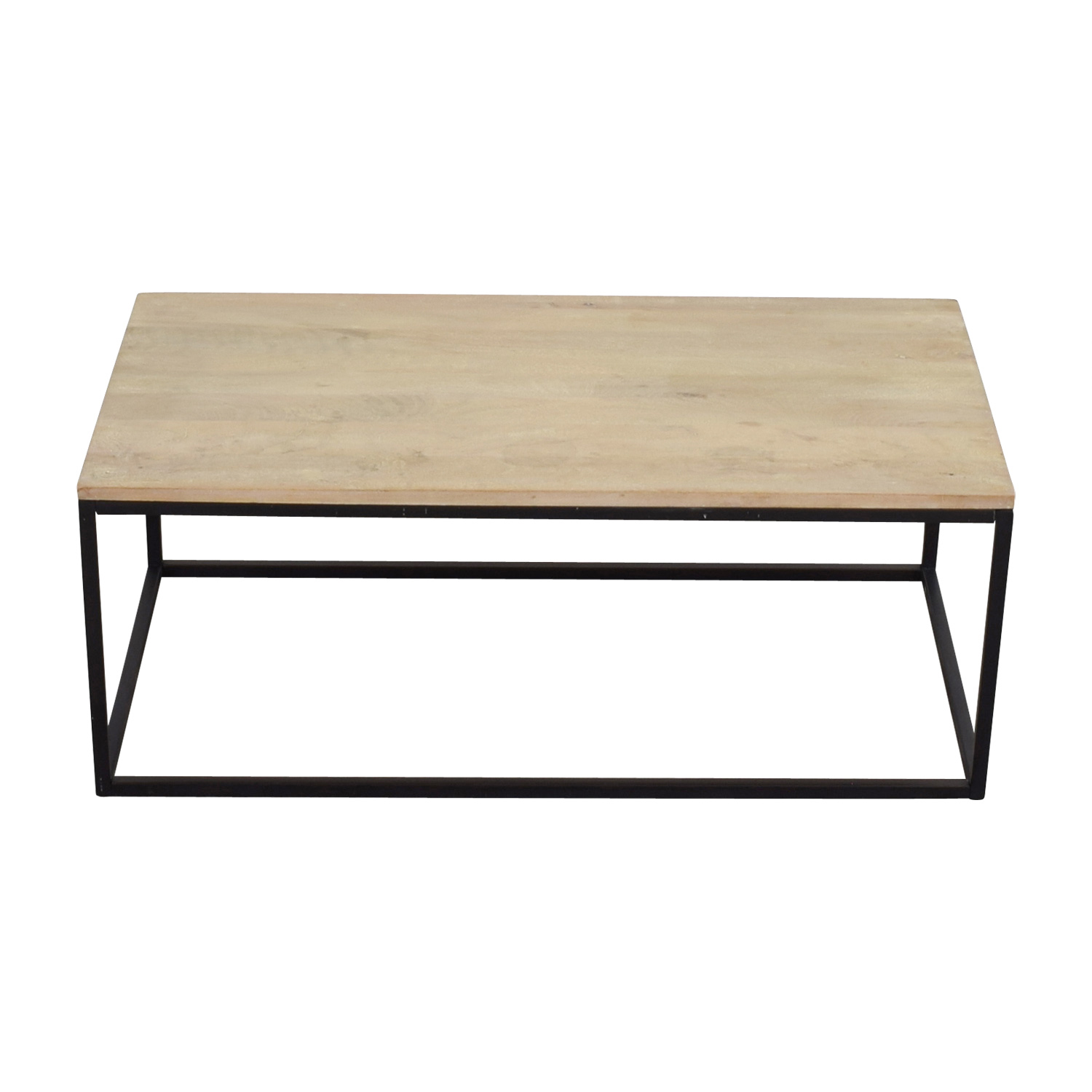 Crate & Barrel Natural Wood Coffee Table sale