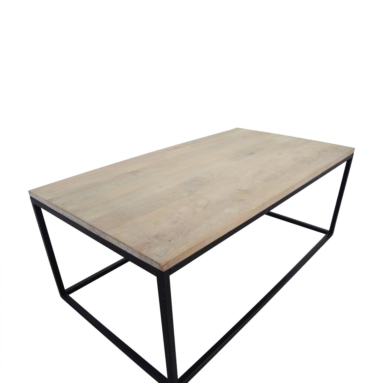 shop Crate & Barrel Crate & Barrel Natural Wood Coffee Table online