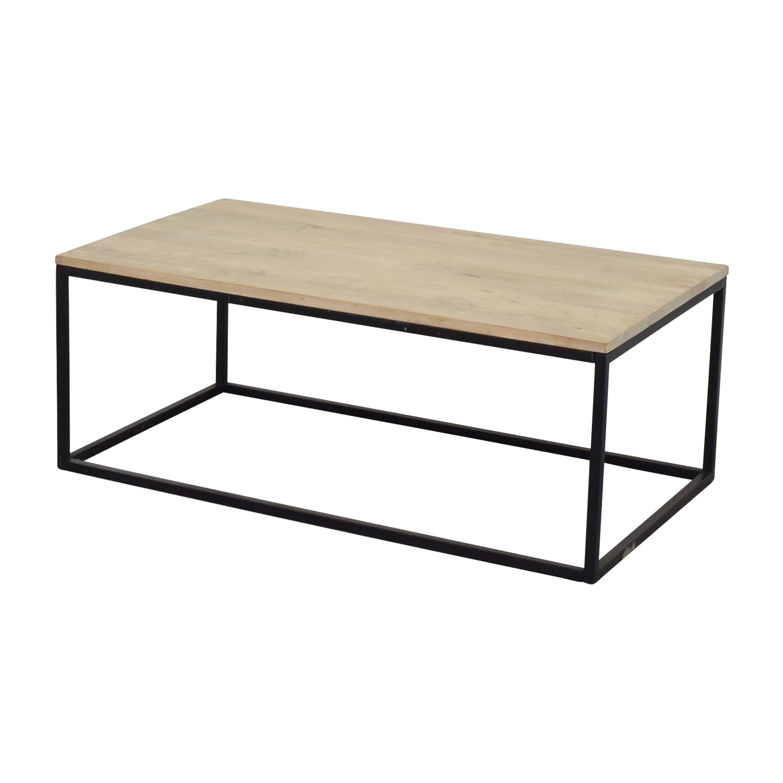 Crate & Barrel Crate & Barrel Natural Wood Coffee Table dimensions