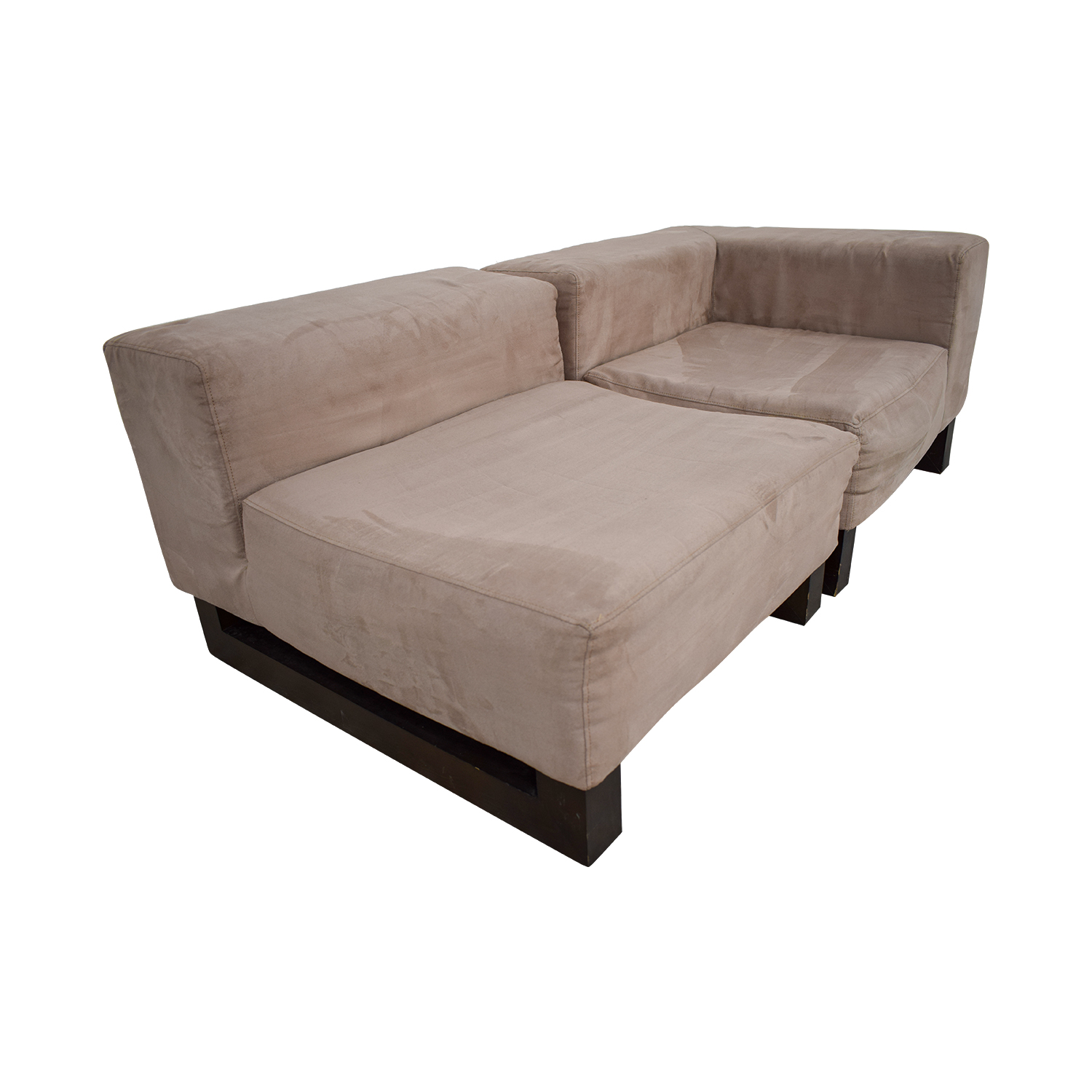 shop West Elm Khaki Lounge Sectional West Elm Sectionals