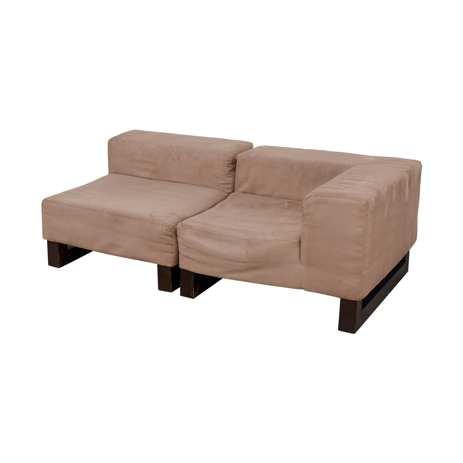West Elm Khaki Lounge Sectional / Sectionals