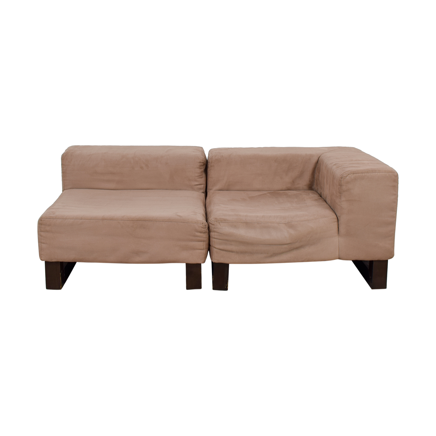West Elm West Elm Khaki Lounge Sectional discount
