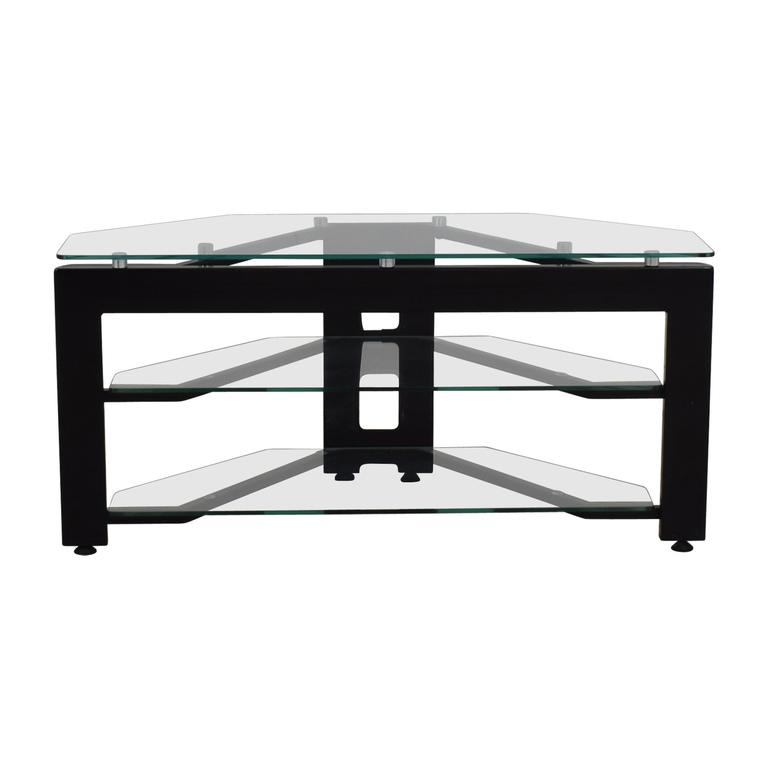 shop  Glass Two-Shelf Corner TV Stand online