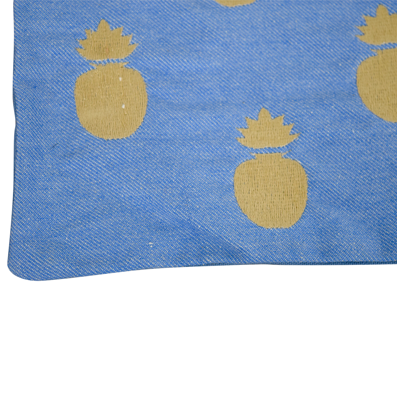 buy Obeetee Pineapple Blue Cushion Cover Obeetee Decorative Accents