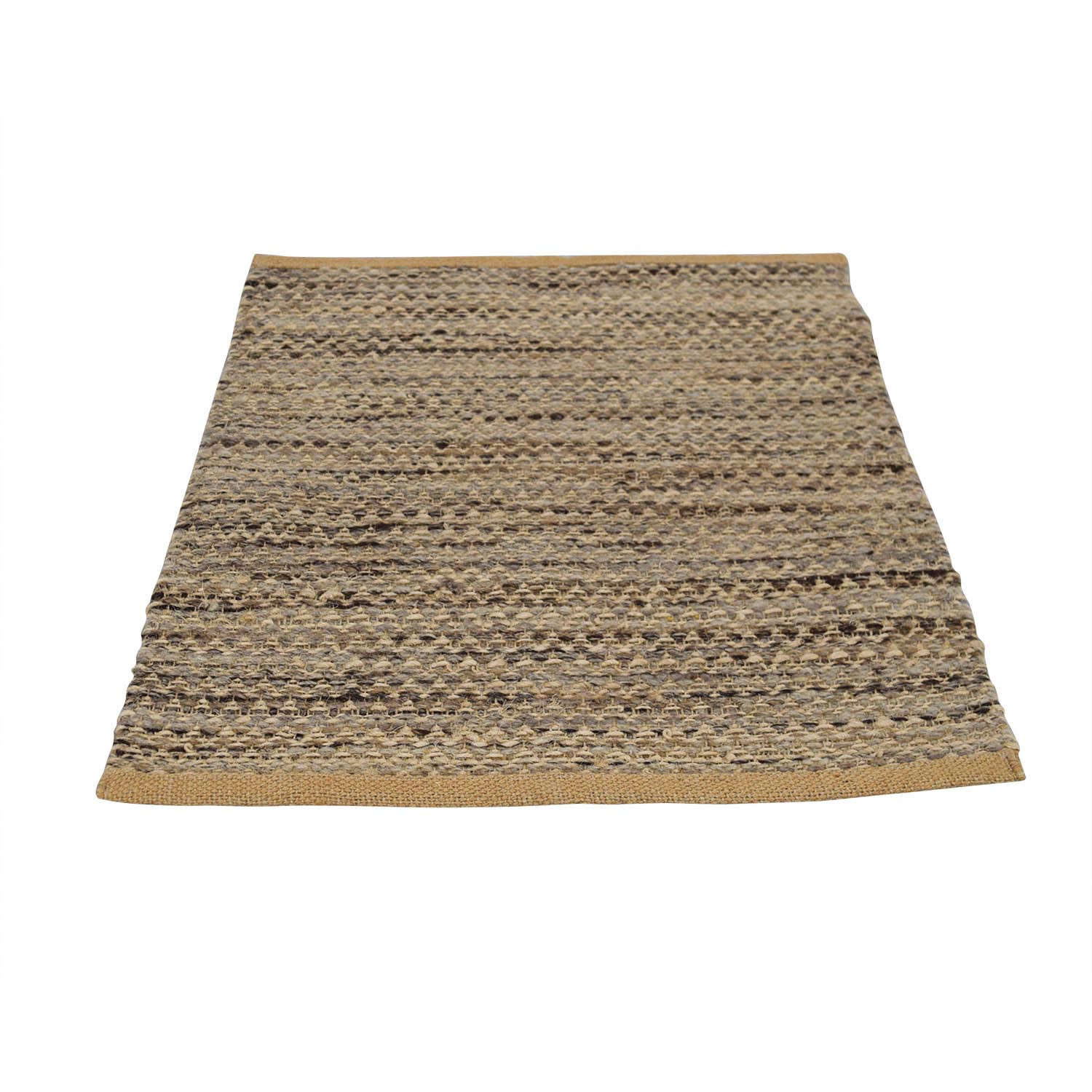 Obeetee Brown and Beige Entry Rug sale