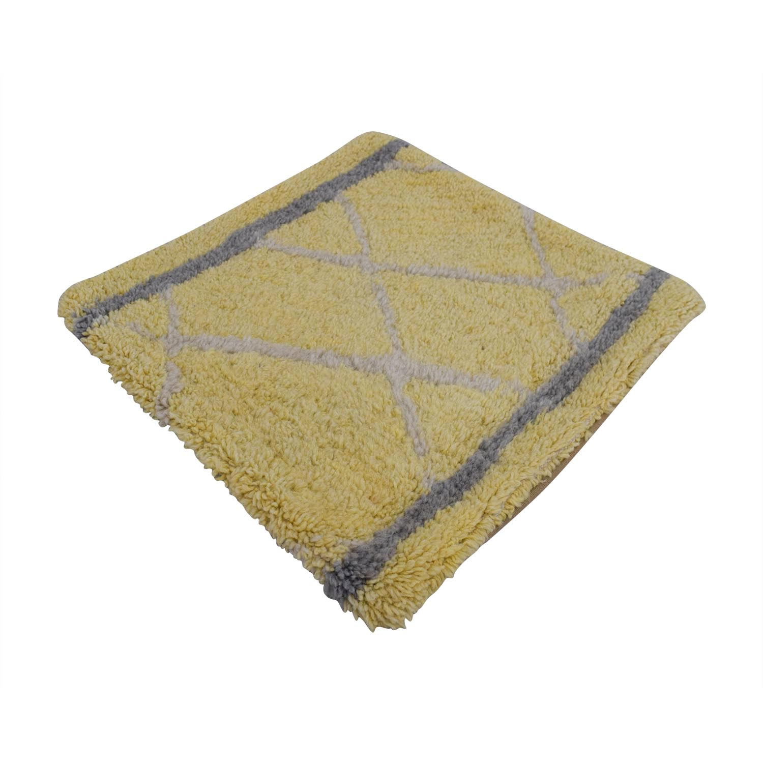 shop Obeetee Yellow and Grey Entry Rug Obeetee Rugs